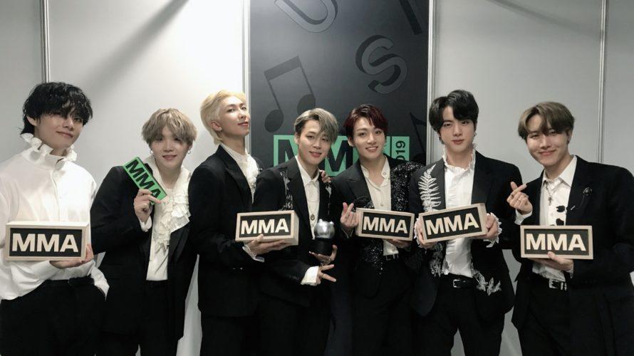 [祝]BTSがMMA2019で驚異の8冠!過去の受賞歴もおさらい